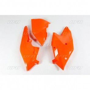 KTM Seitenteile mit Luftfilterkasten Abdeckung Neon Orange SX, SXF 125, 250, 350, 450 2016-2018
