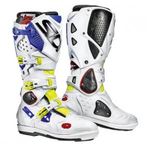 Sidi Crossfire 2 SRS Stiefel Weiß/Neon-Gelb/Blau Größe 47, 48