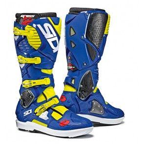 Sidi Crossfire 3 SRS Stiefel Neongelb Blau