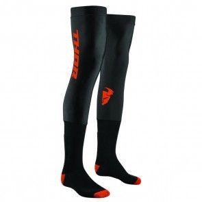 Thor Comp Lange Knieschützer Socken Schwarz - Orange