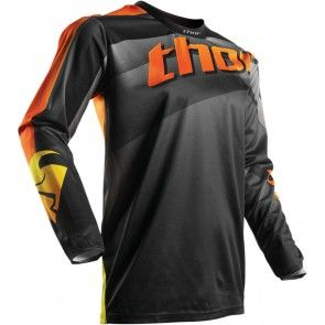 Thor Pulse Velow Shirt Schwarz Orange