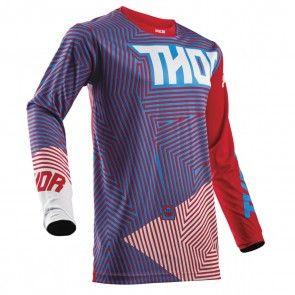 Thor Pulse Geotec Shirt Blau / Rot