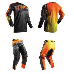 Thor Pulse Velow Schwarz/Orange Combo (Shirt + Hose)