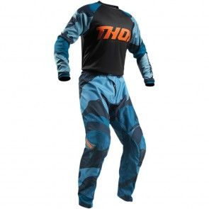 Thor Sector Camo Combo 2019 - (Shirt + Hose) Blau