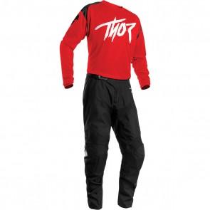 Thor Sector  Link Combo 2021 - (Shirt + Hose) Schwarz Rot