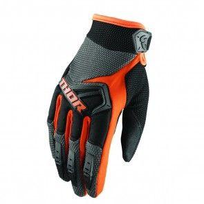 Thor Spectrum S8 Handschuhe Charcoal - Orange