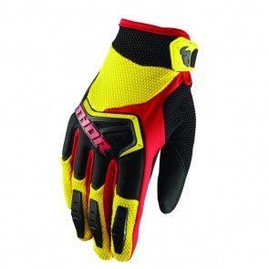 Thor Spectrum S8 Handschuhe Gelb / Schwarz / Rot