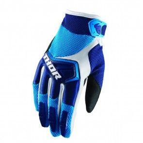 Thor Spectrum S8 Handschuhe Navy Blau Weiß