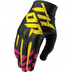 Thor Void Aktiv Handschuhe S7 Dazz Magenta Schwarz Gelb