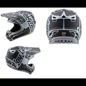 TLD Troy Lee Designs SE4 Helm Silber
