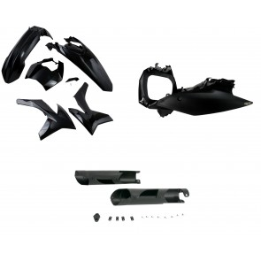 UFO Full KTM Plastik-Kit mit Lampenmaske EXC 125 250 300 350 450 500 2012-2013 Schwarz