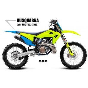 UFO Plastik Kit LTD Neongelb - Blau Husqvarna TC, FC 125, 250, 350, 450 2019-