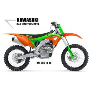 UFO Plastik Kit LTD Kawasaki KXF 250 2018-2019 Orange - Grün