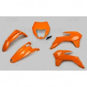 UFO KTM Plastik-Kit mit Lampenmaske EXC 125 250 300 350 450 500 2014-2016 Orange