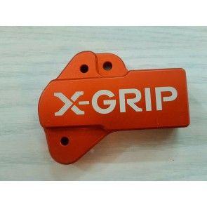 X-Grip Aluminium Schutz Orange für Einspritzung KTM TPI 250, 300 Husqvarna TE 2018-