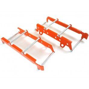 Aluminium Kühlerschützer Orange KTM SX, SX-F 125, 250, 300, 350, 450 2019- / EXC, TPI 2020-