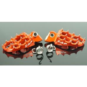 Zap E-Peg Fußrasten Orange KTM SX, SXF, EXC 65, 85, 125, 200, 250, 300, 350, 450, 520, 525, 530