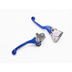 Zeta Flex Hebel Set Blau Kawasaki KX 65, 85, 125, 250 2000-2013 / Suzuki RMZ 250, 450 2007-2017