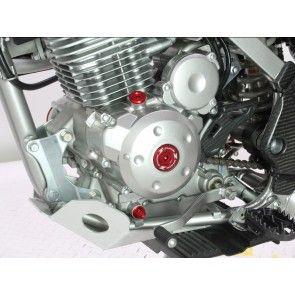 ZETA Inspektionsöffnungs-Schrauben Rot Suzuki RMZ 250, 450